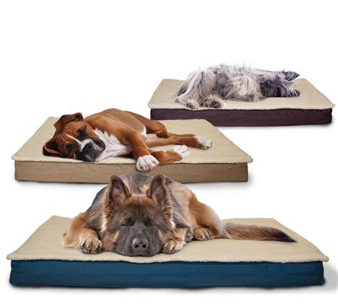 furhaven pet bed furhaven indoor outdoor deluxe memory foam pet bed ebay