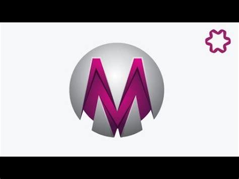 Professional Circle Letter Logo Design Tutorial in adobe ... M 3d Logo