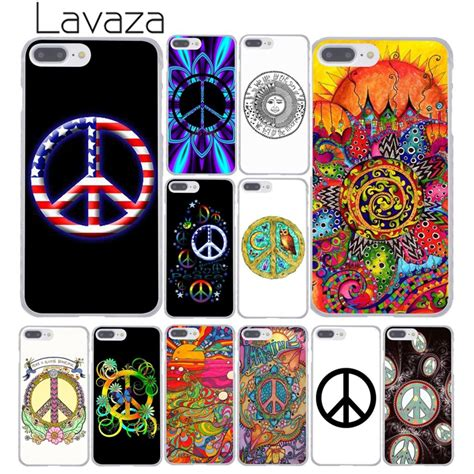 lavaza hippy hippie psychedelic art peace hard cover case  iphone  xs max xr
