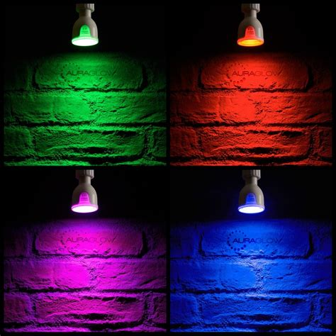 led light bulb color auraglow 6w remote colour changing led light bulb