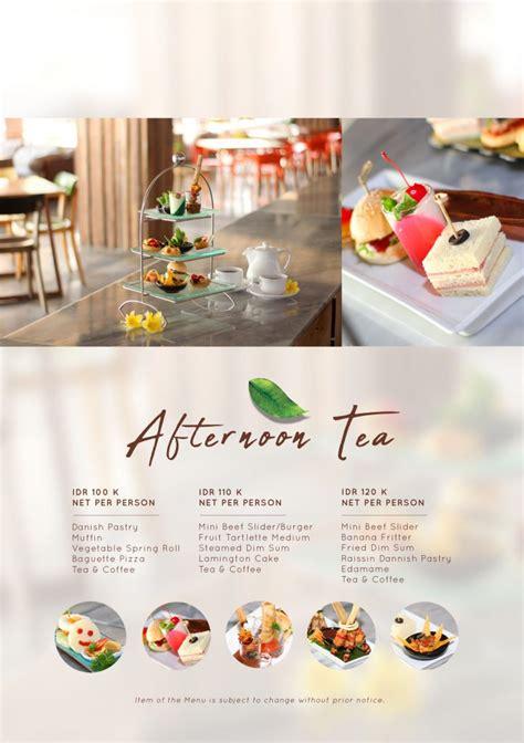 afternoon tea flyer  grand inna kuta