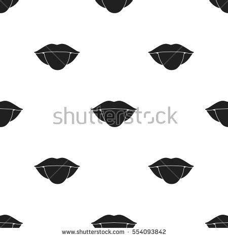 white pattern on tongue tongue icon stock images royalty free images vectors