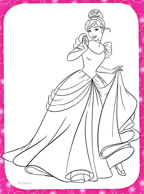 walt disney coloring pages princess cinderella walt