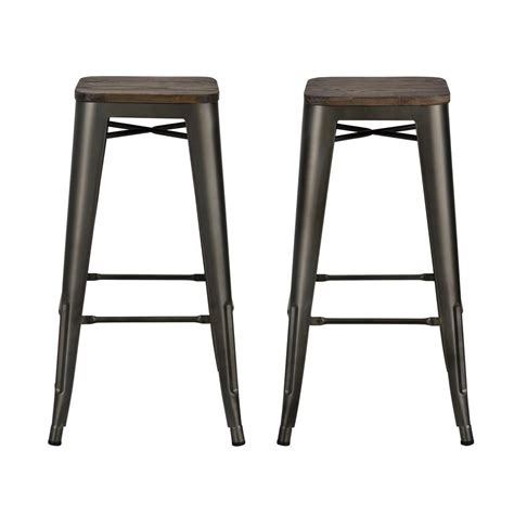 Antique Copper Bar Stools by Dhp Penelope 30 In Antique Copper Bar Stool With Wood