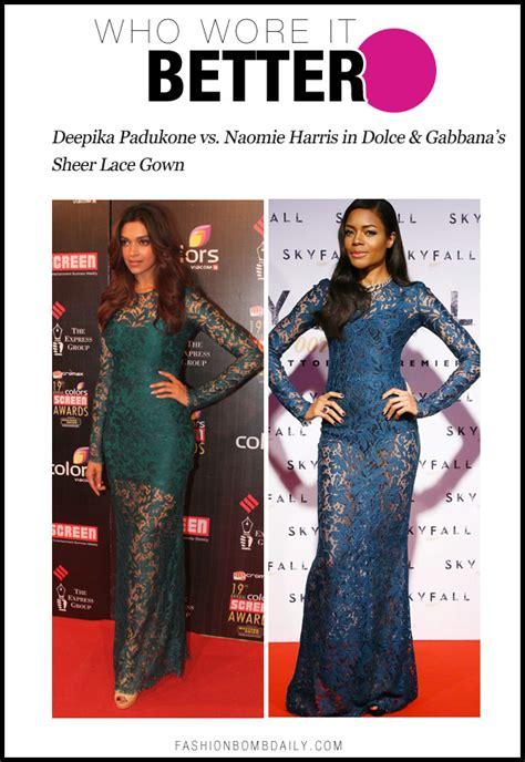 Who Wore Dolce Gabbana Better by Who Wore It Better 0117 Deepika Padukone Vs Naomie Harris