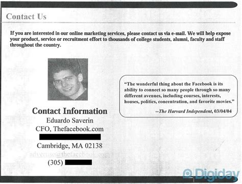 facebook masthead this is how facebook sold adverts in 2004 thetecnica