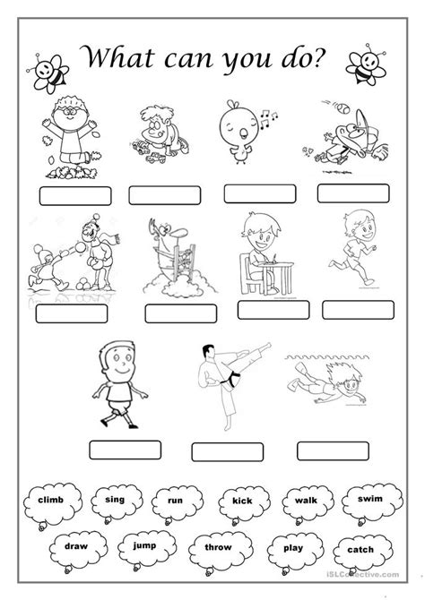 Verbs For Kindergarten Worksheets by Kindergarten Verb Worksheets Verbs And Verb Tense Free