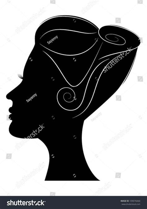 Hairstyle Tools Designs For Silhouette Cameo by Silhouette Profile Beautiful Hairstyle Stock Vector