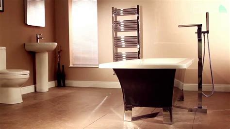 Free Standing Bathroom Sink Vanity Cascade Waterfall Freestanding Bath Shower Mixer Tap Youtube