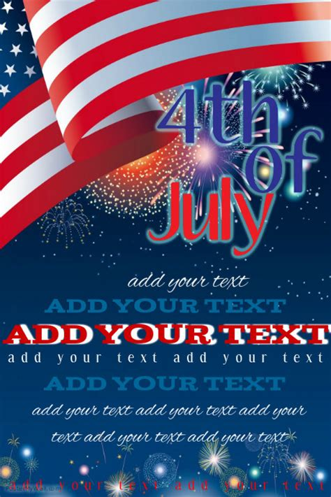 Fourth Of July Event Flyer Template Postermywall In July Flyer Template