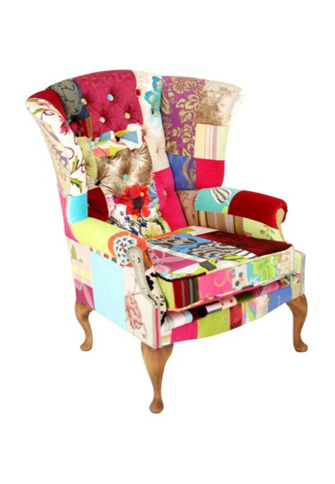 Patchwork Wing Chair - billingscroft patchwork wing chair bespoke