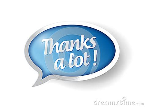 Thanks A Lot 1 thanks a lot message illustration stock images image 33754084