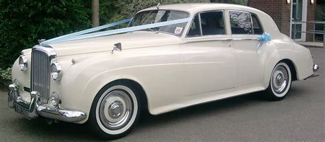 old white bentley classic car hire wedding cars