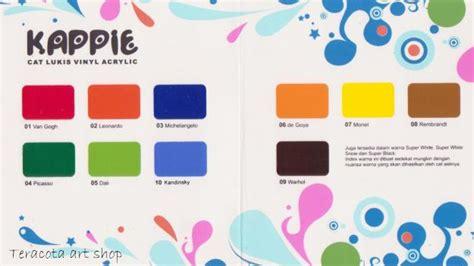 cat lukis vinyl acrylic kappie contoh template dari