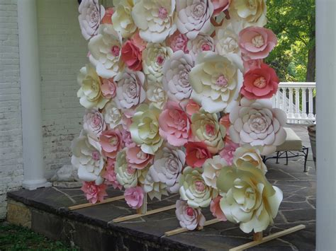 large decoration white paper flower wall large paper flowers decoration