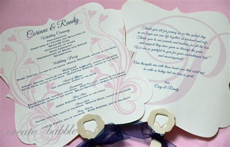 Diy Wedding Programs Create And Babble Fan Shaped Wedding Program Templates