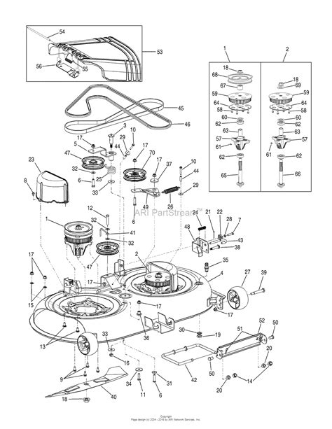 mtd mower deck diagram mtd 17ak9tkr099 247 289330 2009 17ak9tkr099