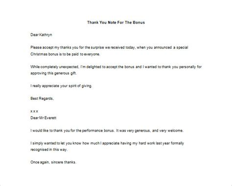 appreciation letter bonus thank you letter to 9 free word excel pdf format