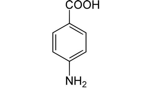 PABA (4-Aminobenzoic acid) | Quimica Alkano P Aminobenzoic Acid