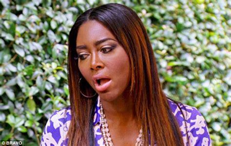 phaedra parks hairstyles kenya moore denies sexting co star phaedra parks husband