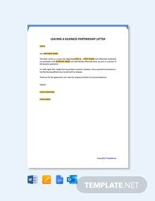 letter withdrawal business partnership