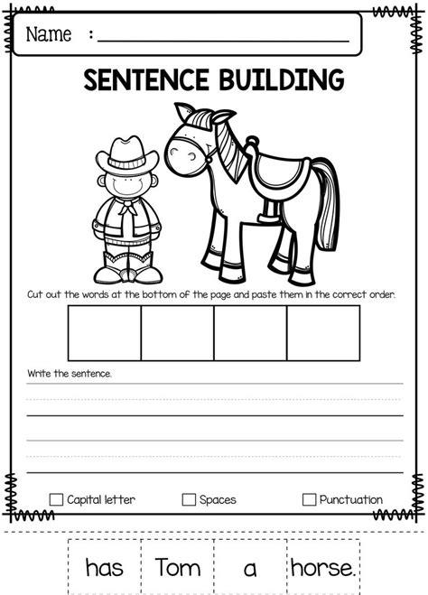 Kindergarten Sentence Building Worksheets by 197 Best Miss Faleena S Store Images On