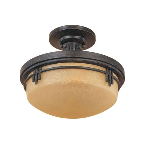 Designers Fountain Mission Hills Collection 2 Light Warm Mission Style Ceiling Light