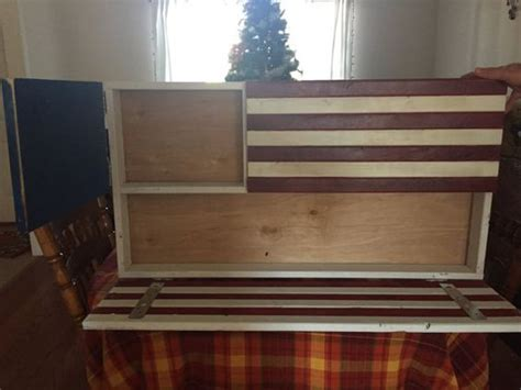 wood american flag gun cabinet two compartment american flag gun cabinet pistols