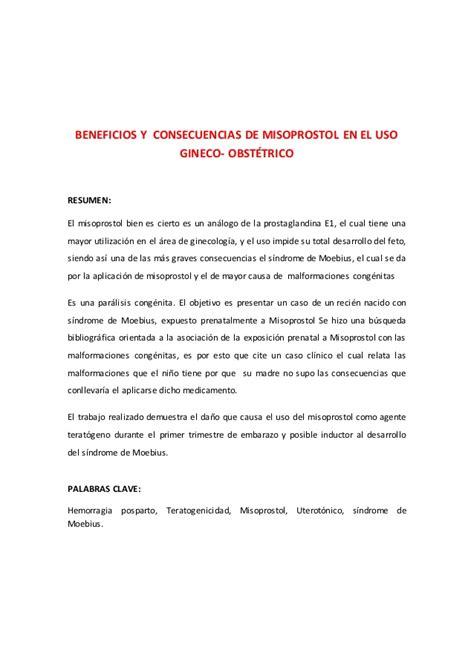 Cytotec Kullan 305m 305 Beneficios Y Consecuencias De Misoprostol En El Uso Gineco