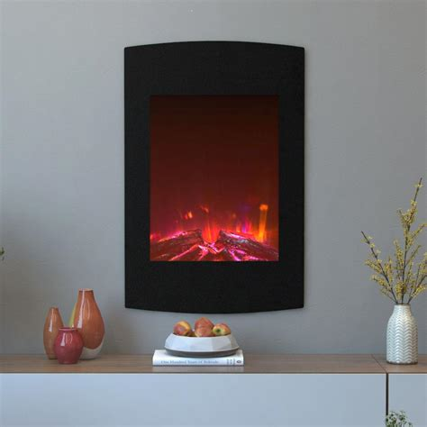 curved electric fireplace moda scoria 23 in curved wall mounted electric