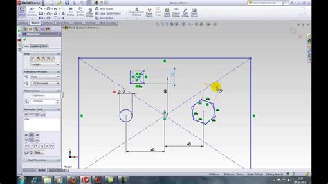 solidworks tutorial youtube 2011 solidworks tutorial 14 linking dimensions youtube
