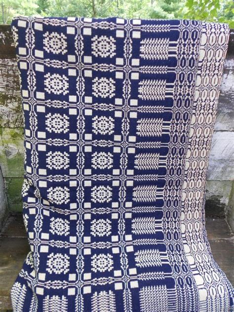 reproduction woven coverlets antique large overshot coverlet 103 x 86 by