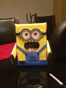 how to make a minion valentines day box dispicable me minion valentines day box something