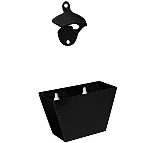bottle opener and cap catcher set black cast iron bottle opener and cap catcher set