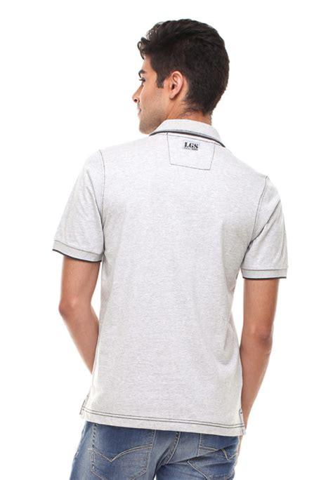 Kaos Monyet Kantong Putih regular fit kaos polo kantong tempel putih