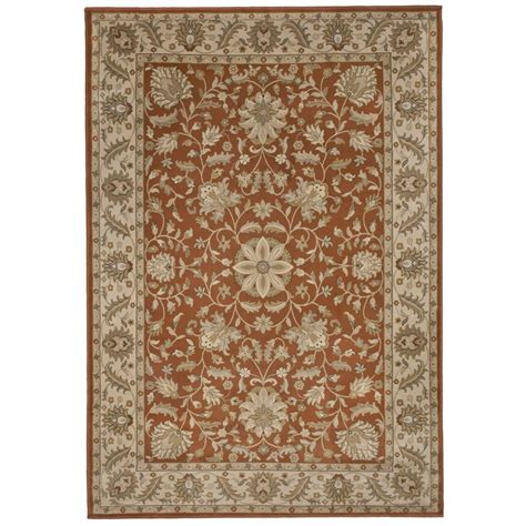 8 X 9 Area Rugs Orian Rugs Bursa Leather 6 Ft 7 In X 9 Ft 8 In Area Rug 242782 The Home Depot