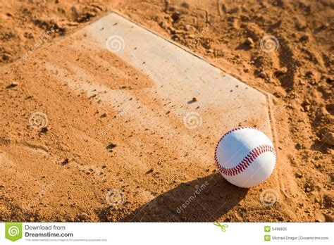 home plate baseball baseball homeplate with baseball on it royalty free stock