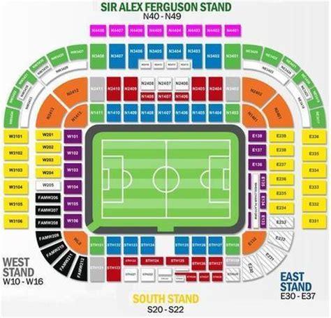 american seatingpany trafford seating plan home to manchester u