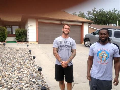cm punk s house photo cm punk and kofi kingston at the breaking bad house wrestlinginc com