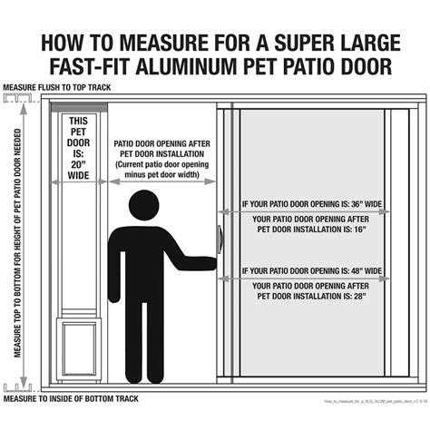 How To Measure A Patio Door For Replacement by Large Aluminum Pet Adjustable Patio Door Standard