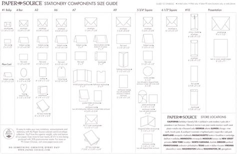 printable envelope size chart envelope size chart paper source graphic design and