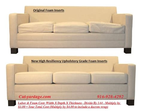 upholstery memory foam foam replacement for sofa cushions basic foam replacement