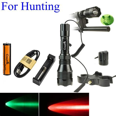tactical light with pressure switch 1000lm led tactical flashlight long range red green white