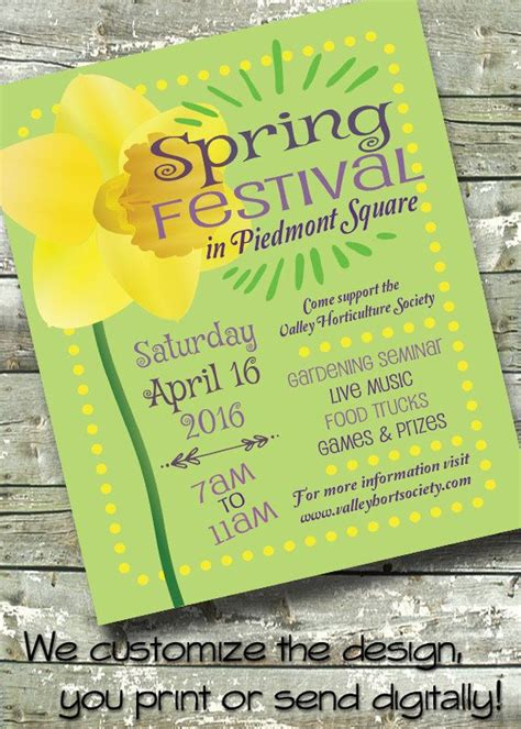 spring festival spring craft fair  invite