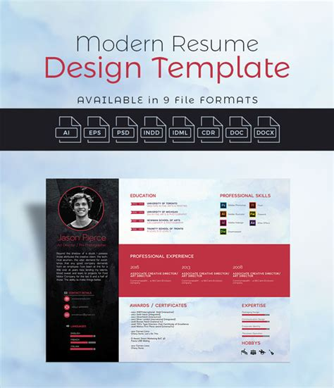 modern resume templates docx 10 newest free premium resume templates for graphic web designers