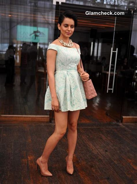 Topshop Launches New Website by Kangana Ranaut In Another Topshop Dress At Website Launch