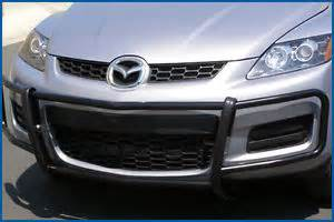 black front runner bumper guard grille protector for mazda