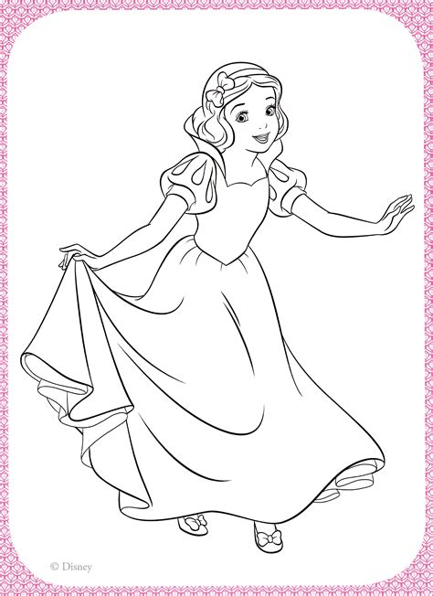disney princess coloring book snow white moana tinker bell rapunzel 130 illustrations volume 1 books disney princess coloring pages snow white coloring home