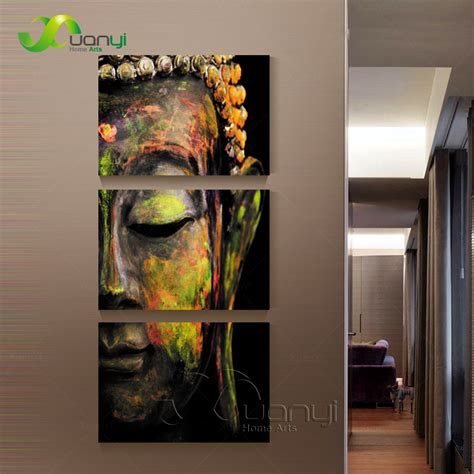 painting wohnzimmer 3 canvas wall canvas painting buddha canvas