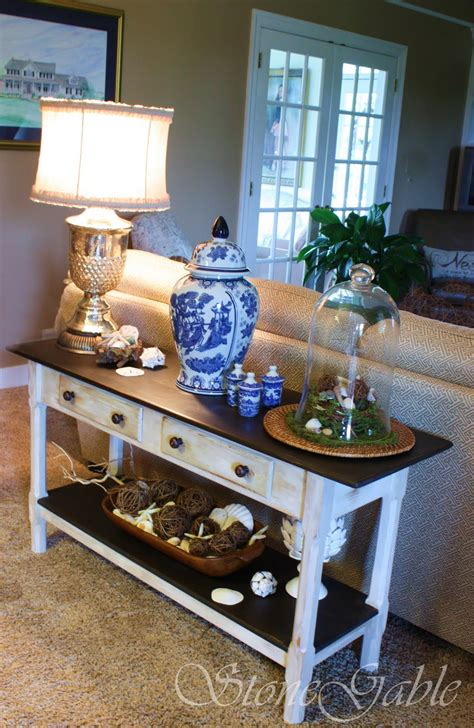 Sofa Table Ideas Painted Sofa Table Stonegable